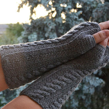 Knitted mittens gloves, mittens, gray glove, women mittens, winter accessories, Knitting Accessories, women clothing, unique gifts, gloves