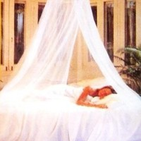 Mosquito Bed Net w/Hanging Ring - Classic White