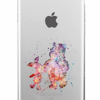 Winnie The Pooh and Eeyor Soft Watercolor iPhone Case 5,5s,SE,6,6S,6+,7,7+