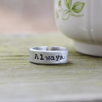 Always Ring - Harry Potter Ring - Romantic - Love - Looks Like Silver - Adjustable Ring