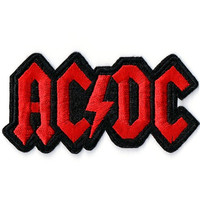 ACDC Heavy Metal Rock Punk Embroidered Iron On Patch 9.5cm x 4.8cm
