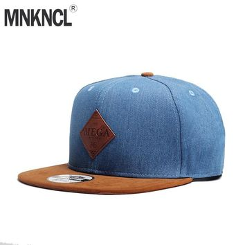 Trendy Winter Jacket MNKNCL High Quality Snapback Cap MEGA Embroidery Brand Flat Brim Baseball Cap Youth Hip Hop Cap and Hat For Men and Woman AT_92_12