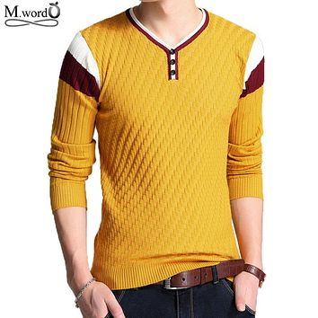 2017 brand mens slim fit V Neck pullover sweater casual men stripe pullover christmas Sweater jumpers kint wear homme pull Chand