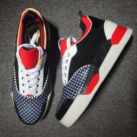 DCCK Cl Christian Louboutin Mid Style #2128 Sneakers Fashion Shoes