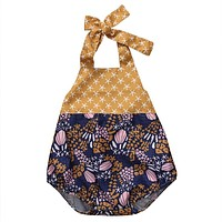 Newborn Infant Baby Girl Romper Shells Backless Romper Jumpsuit Clothes Outfits Sunsuit