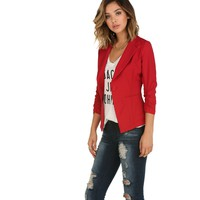 Red Miss Boss Blazer