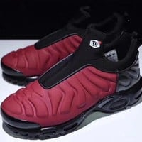 "PEAPYN6 Nike Air Max Plus Slip SP TN Retro Running Shoes ""Red&Blackââ'?,Nike Air Max Plus Slip SP TN Retro Running Shoes ""Red&Black""size:40-45"""