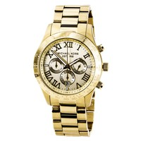 Michael Kors MK8214 Men's Layton Beige Dial Gold Tone Stainless Steel Chronograph Watch