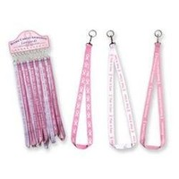 Pink Ribbon BREAST CANCER AWARENESS Lanyard, 1 piece, assorted