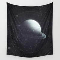 Space Sound Waves Wall Tapestry by DuckyB (Brandi)
