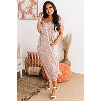 Don't Start With Me Leopard Maxi Dress (Mauve)