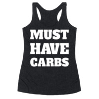 MUST HAVE CARBS RACERBACK TANK