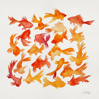 Goldfish Art Print by Cat Coquillette
