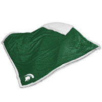 Michigan State Spartans NCAA  Soft Plush Sherpa Throw Blanket (50in x 60in)
