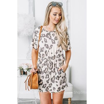 Adventure Awaits Leopard Print Romper