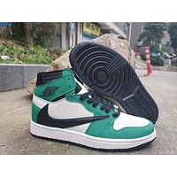 Air Jordan 1 High OG TS SP White/Black/Green
