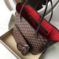 Louis Vuitton LV hot sale classic printed letters high quality two-piece shoulder bag messenger bag shopping bag