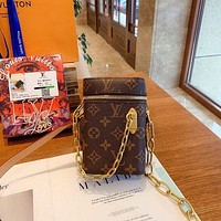 Louis Vuitton LV Chain Phone Box Crossbody Bag