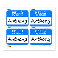 Anthony Hello My Name Is - Sheet of 4 Stickers
