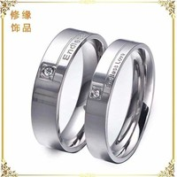 """Stainless Steel """" Endless Love """" Love Promise Ring Wedding Band Silver Gift Nice"""