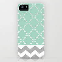 Green and Grey iPhone & iPod Case by Sydney Smith