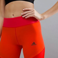 adidas Training Wow Climalite Leggings In Red at asos.com