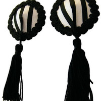 Black Crochet Tassel Pasties
