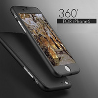 Luxury 360 Degree Full Body Protection Cover Case For iPhone 6 6s 7 Plus With Tempered Glass For i6 i6s i7 Plus Case Capa coque