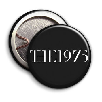 The 1975, Black - Button Badge - 25mm 1 inch