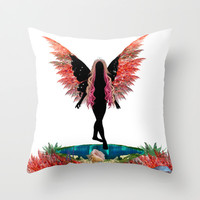 Fairy  Throw Pillow by Haroulita