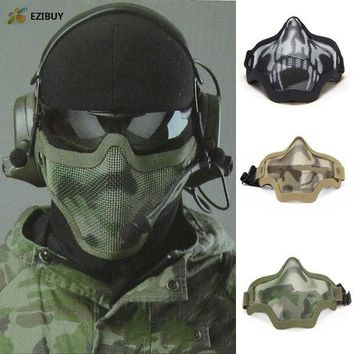 CM01 Skull Mask Half Face Airsoft Protector Mask Cacique Soldier Halloween Masquerade Mask EB846