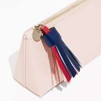 & Other Stories | Tricolour Tassel Leather Purse | Light Pink