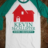 Kevin McCallister Home Security (Baseball) - Fun Movie Shirts