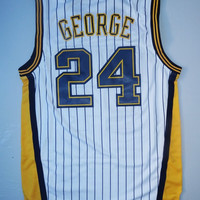 Paul George Indiana Pacers 24 Super Rare Swingman New NBA Jersey Paul George Pacers Basketball Jersey All Stitched and Sewn Any Size S - XXL