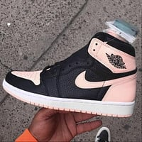 Air jordan 1 AJ 1 Men's shoes high-top sneakers female students breathable basketball shoes sneakers