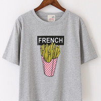 Grey French Fry T-Shirt