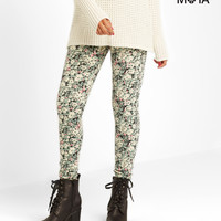 Aeropostale  High-Waisted Floral Leggings - Black, X-Small