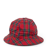 Rounded Plaid Bucket Hat