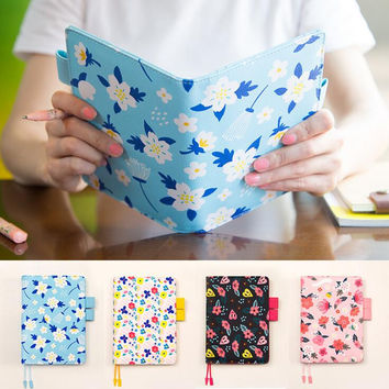 2017 Floral leather notebook DIY diary daily planner agenda organizer 207P cute Japan fashion stationery A6 A5 school supplies