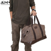 Manjianghong Solid Canvas Travel Bags For Men Mjh-1316
