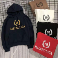 Balenciaga fashion men and women long sleeve hooded Plush sweater