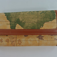 Inspired to Travel The World Medium-Sized Chocolate Wallet
