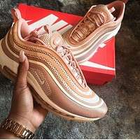 Nike Air Max 97 Fashionable Women Casual Air Cushion Running Sport Shoes Sneakers Pink