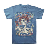 Grateful Dead Men's  Bertha Poster Slim Fit T-shirt Blue Rockabilia