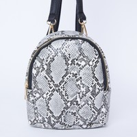 Around Town Snake Print Mini Backpack