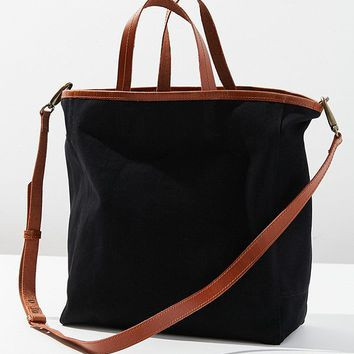 Canvas And Leather Tote Bag | Urban Outfitters