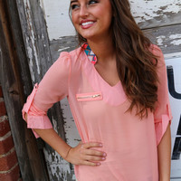 Peach Perfection {Blouse}