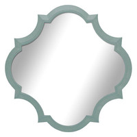 14 X 14-in Turquoise Crest Mirror