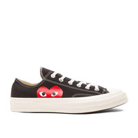 Comme Des Garcons PLAY Converse Large Emblem Low Top Canvas Sneakers in Black | FWRD