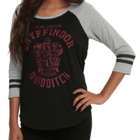 Harry Potter Gryffindor Team Captain Girls Raglan